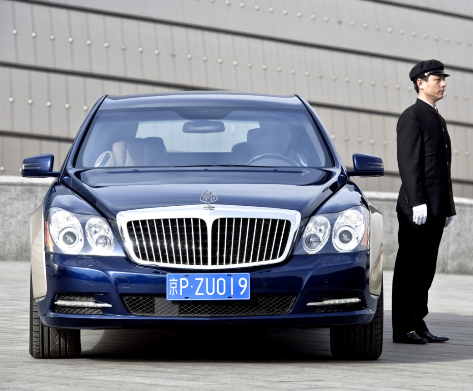 Maybach-Modellpflege: Die Maybachs sind Chauffeurs-Limousinen.