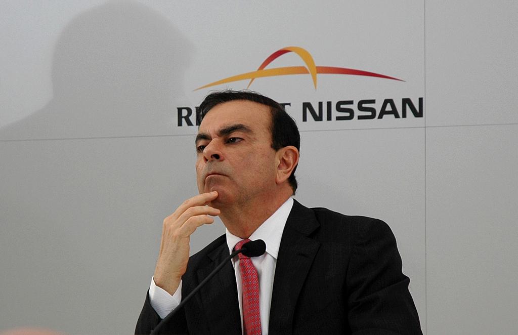 Nachdenklich I: Renault/Nissan-Chef Ghosn bei der Pressekonferenz.