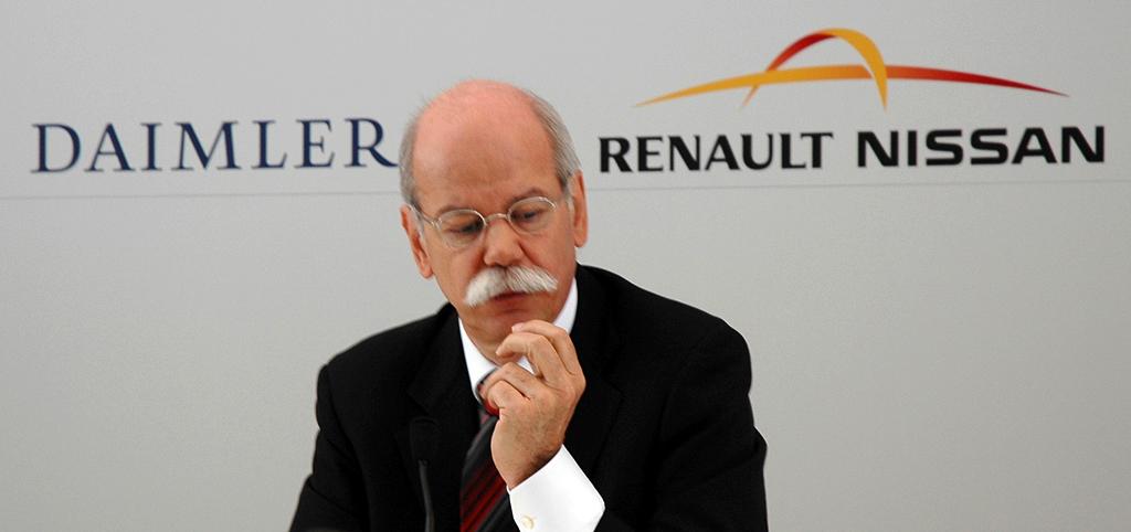 Nachdenklich II: Daimler-/Mercedes-Chef Zetsche bei der Pressekonferenz.