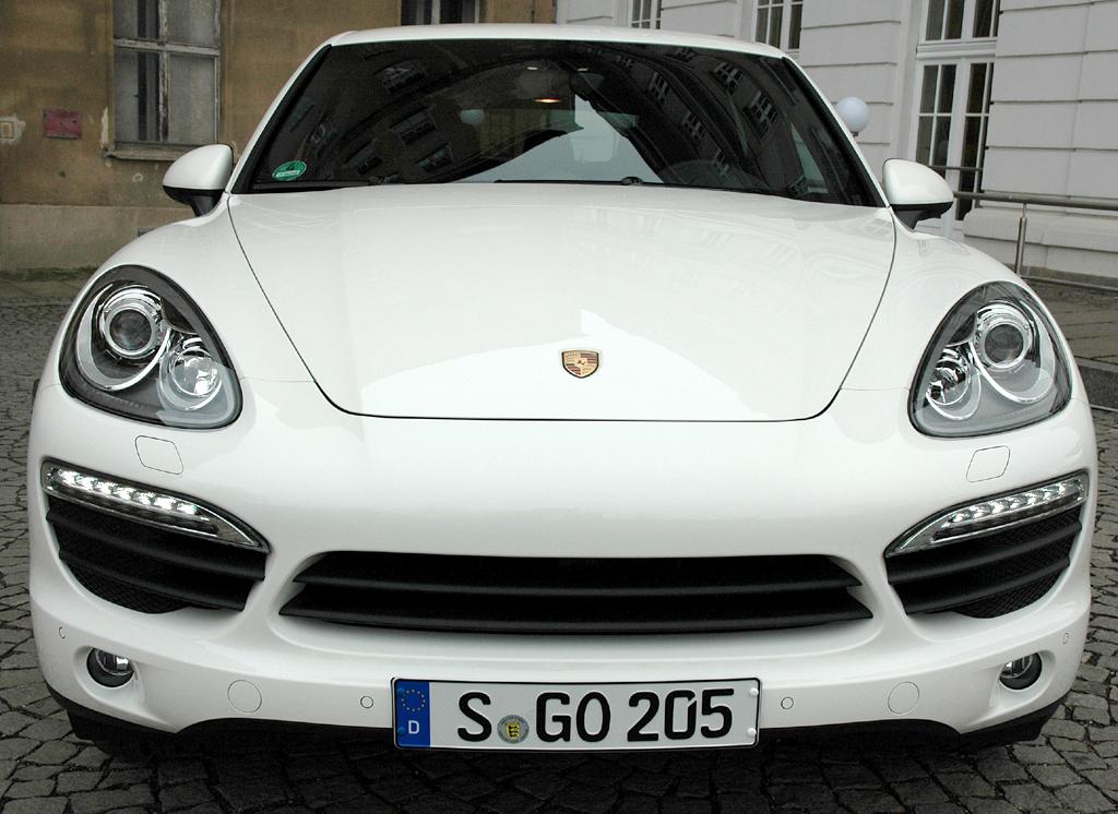 Porsche Cayenne: Frontansicht.