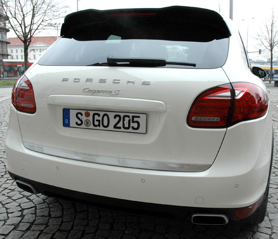 Porsche Cayenne: Heckansicht.