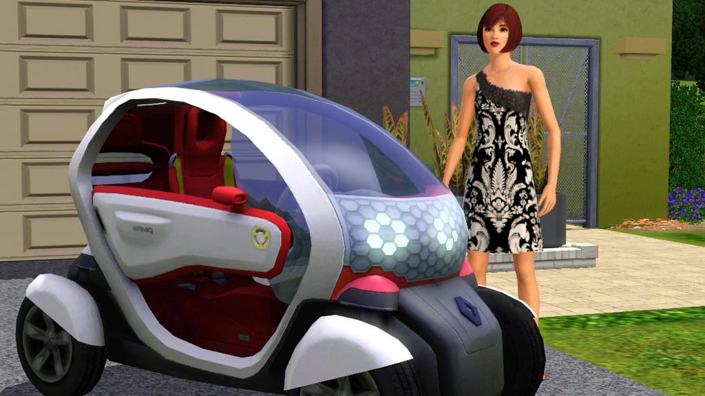 """Renault Twizy Z.E. in """"Sims 3""""."""