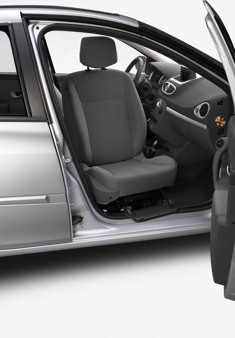 Renault bietet für den Clio einen schwenkbaren Beifahrersitz an.