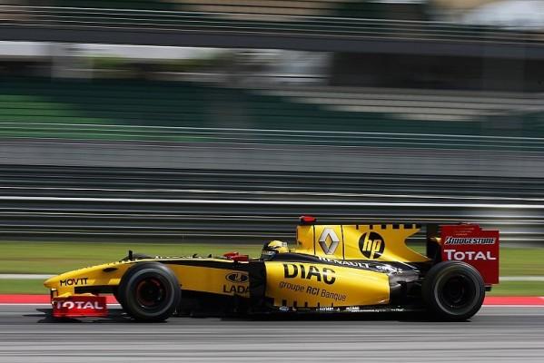 Renault hat eine gute Balance: Probleme bei Petrov
