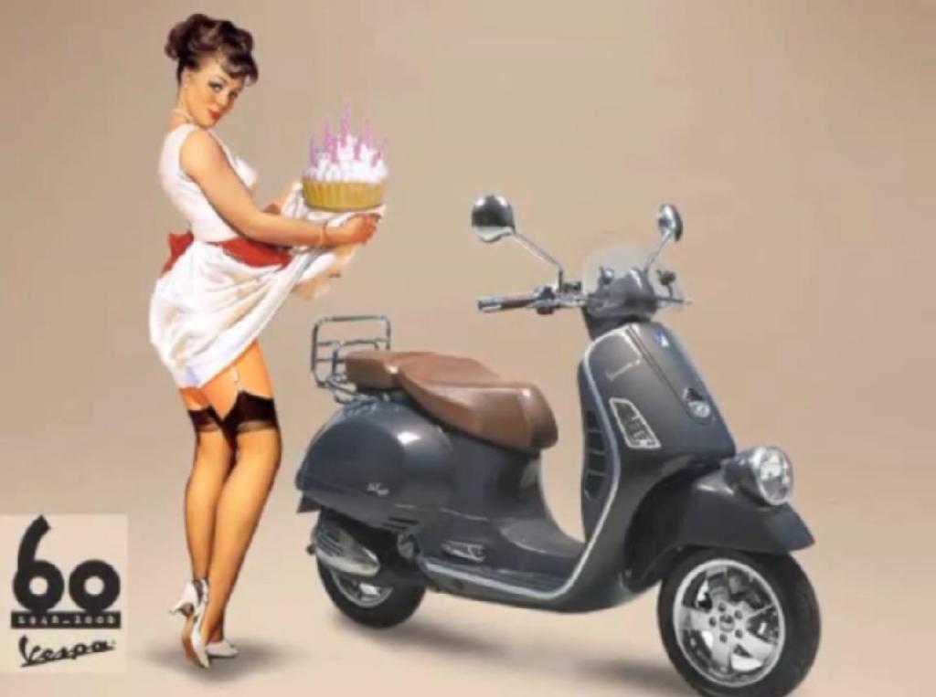 Sahnehäubchen - 60 Jahre sexy Vespa-Girls