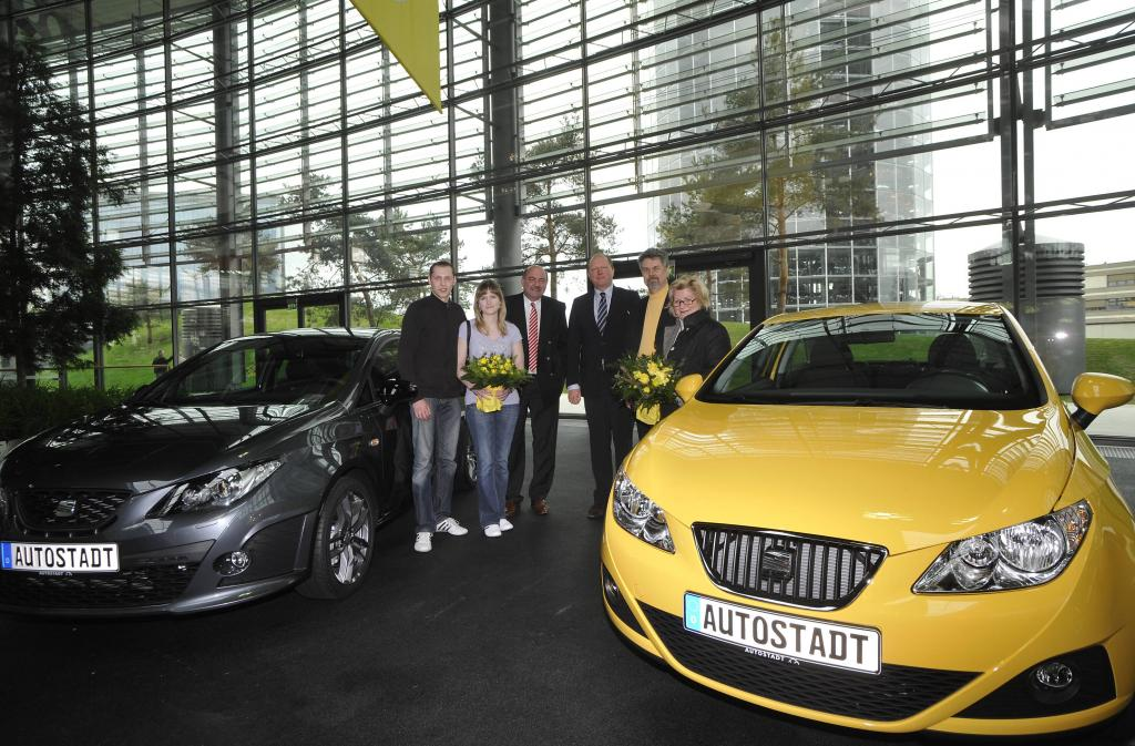 Seat Kunden können Neuwagen in der Autostadt in Wolfsburg abholen