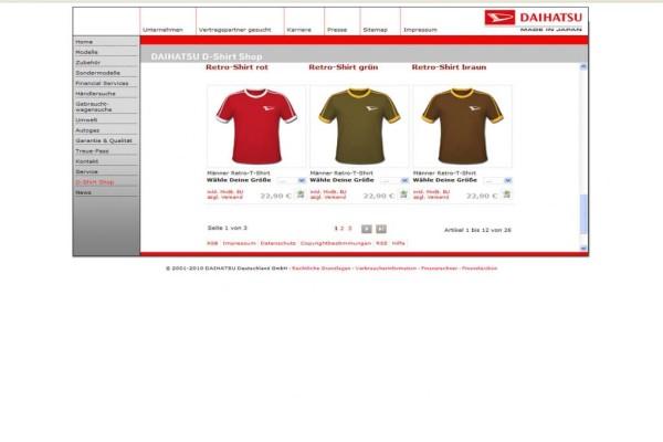 T-Shirts mit Daihatsu-Markenemblem