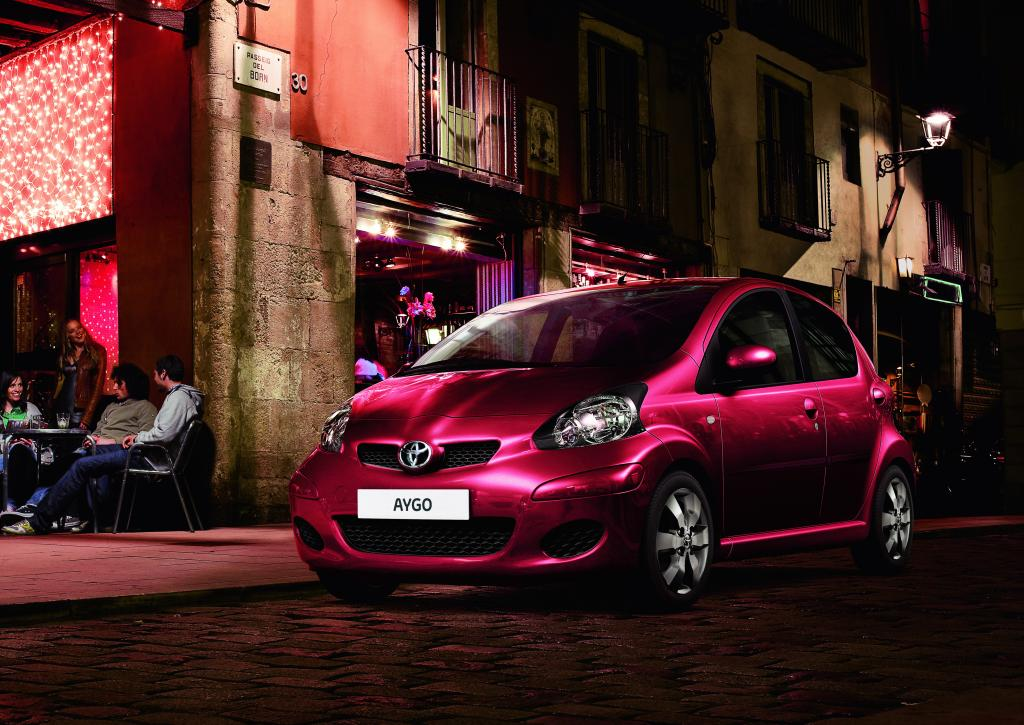 Toyota Aygo Cool Red.