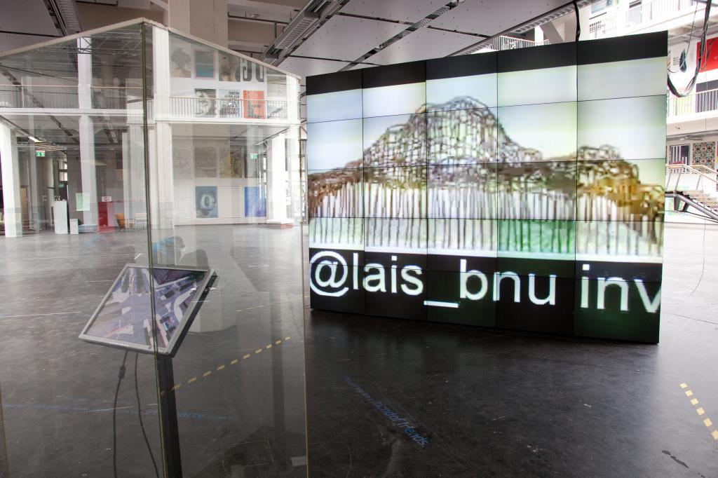 Verkehrssimulation als Teil von Video-Kunst-Installation in Karlsruhe