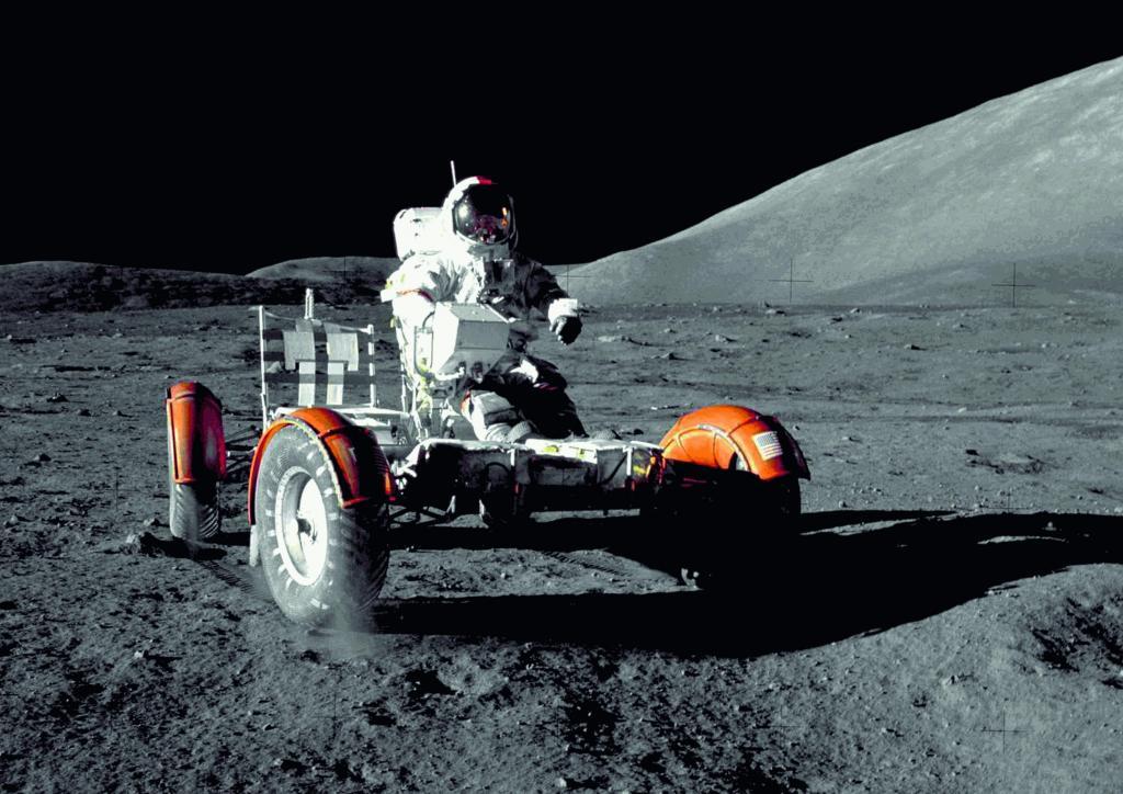 Zweifelsfrei das Exponat, das die größte Aufmerksamkeit auf sich ziehen wird: eine Replika des Mondautos.