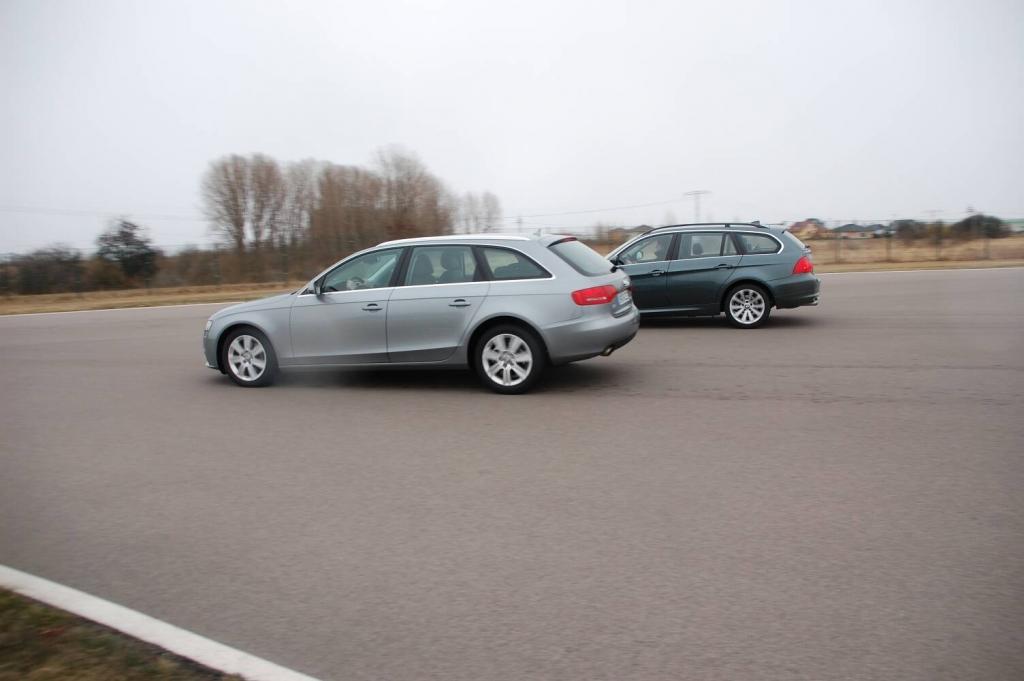 auto.de-Vergleichstest: Audi A4 2.0 T Quattro vs. BMW 325 i Touring | Bremsen und Beschleunigen