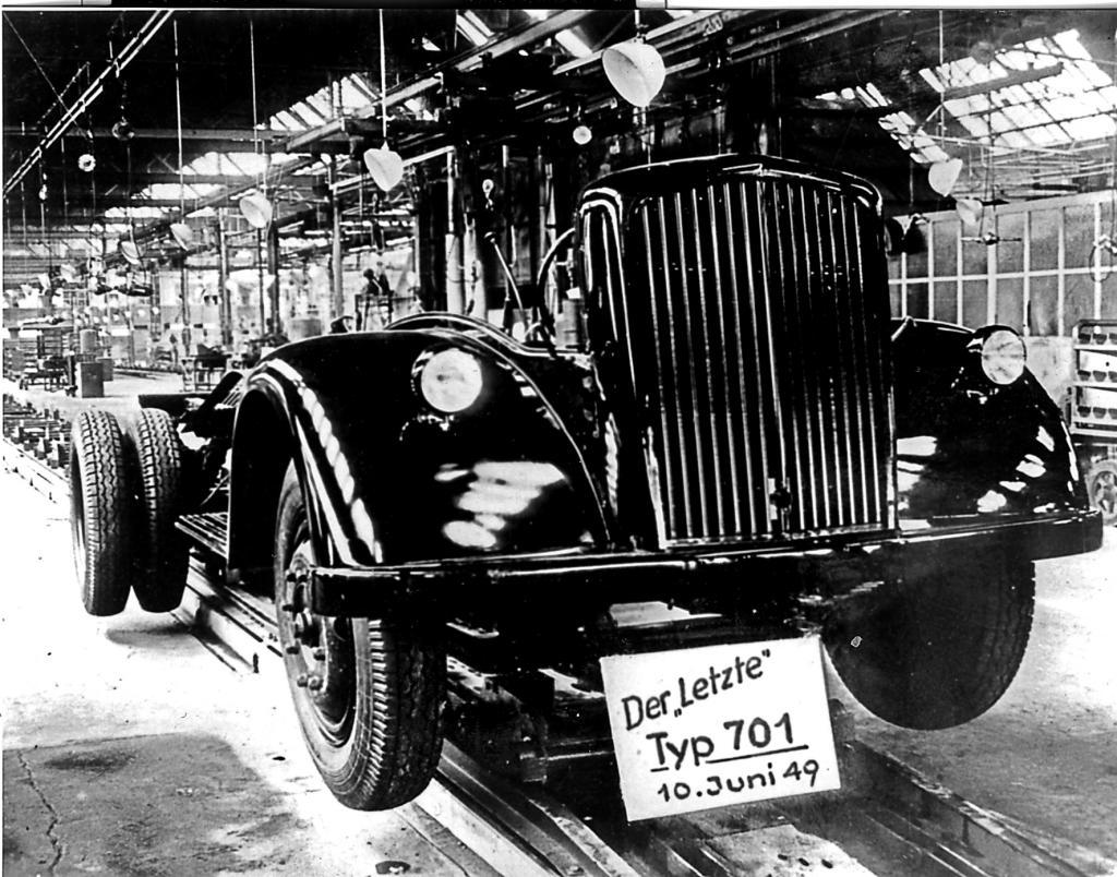 Am 10. Juni 1949 endete die Produktion des L 701.