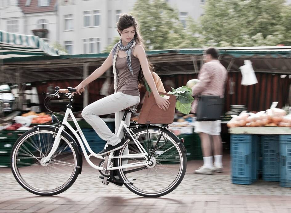 Attraktive Alternative zum herkömmlichen Fahrradkorb.