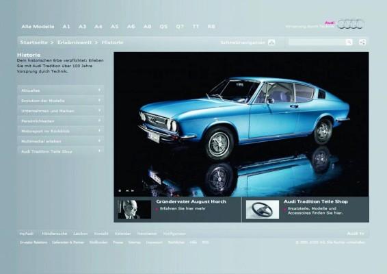 Audi Tradition präsentiert neuen Internetauftritt