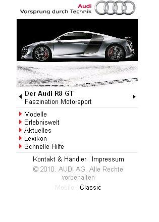 Audi hat Portal für Handys eingerichtet