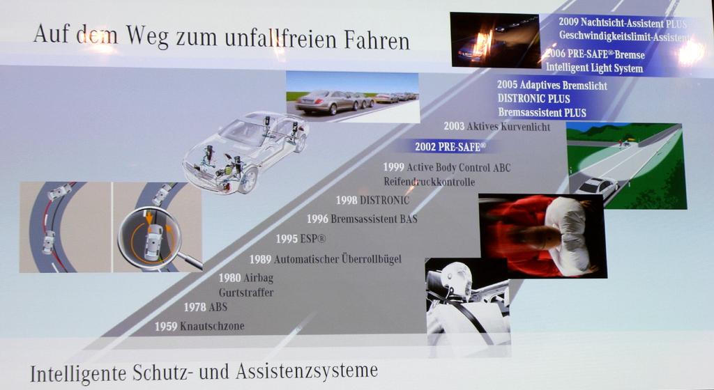 Automatisiertes Fahren: Auf dem Weg zum unfallfreien Fahren hat Mercedes schon eine Reihe von intelligenten Schutz- und Assistenzsystemen entwickelt.