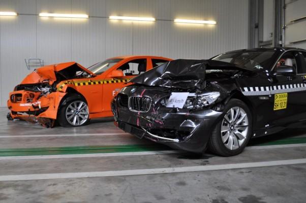 BMW und Dekra demonstrieren Pre-Crash-System mit EuroNCAP-Test