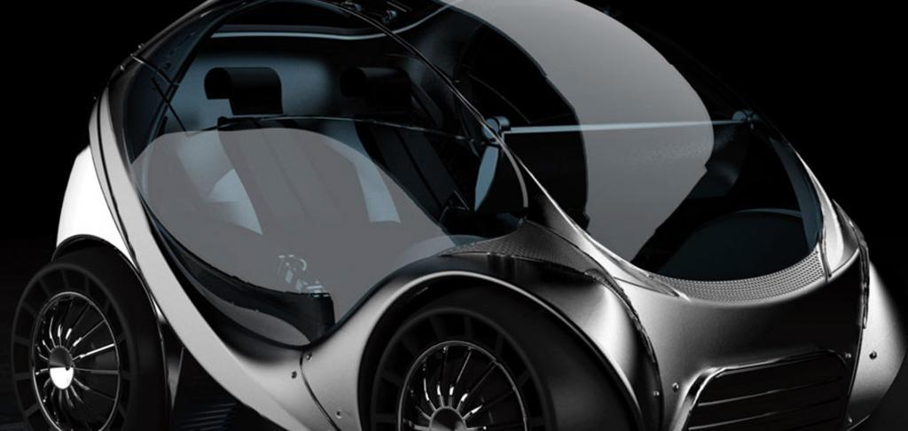 Faltbares Elektroauto für die City