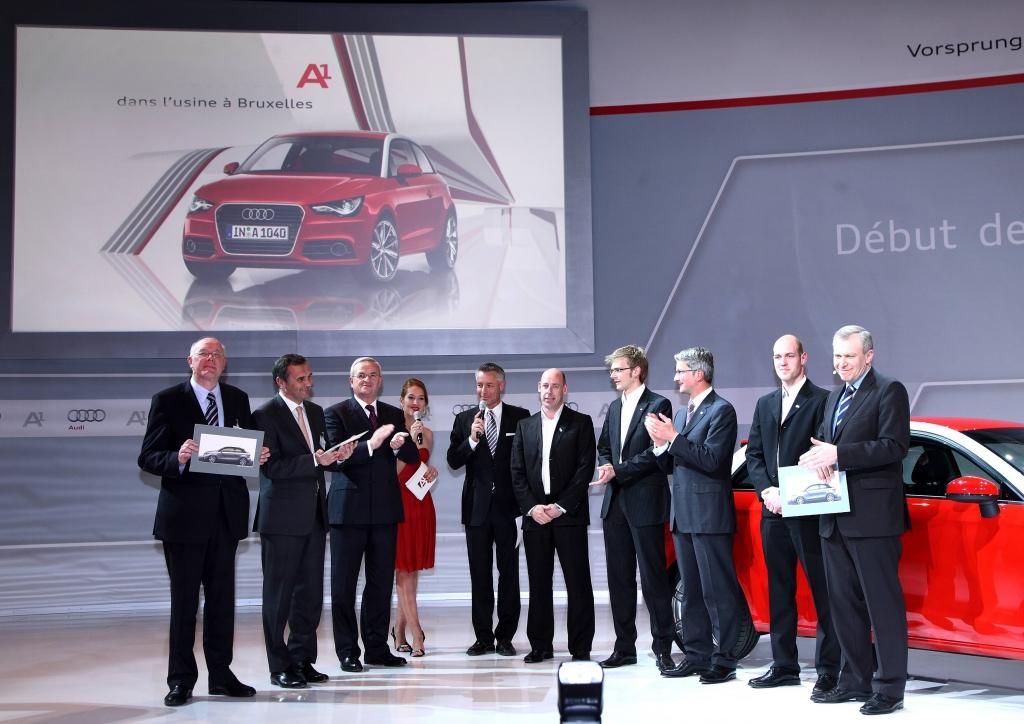 Festakt zum Produktionsstart des Audi A1 in Brüssel.