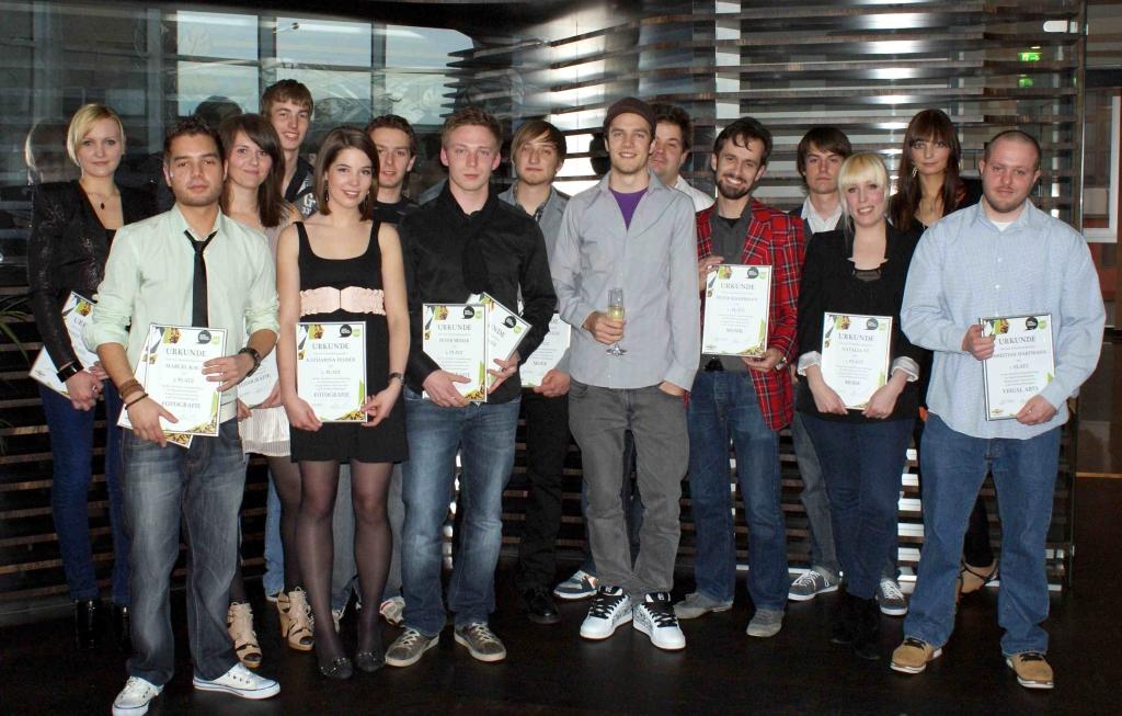 Gruppenbild aller Young Creative Chevrolet-Gewinner 2010 (Deutschland)