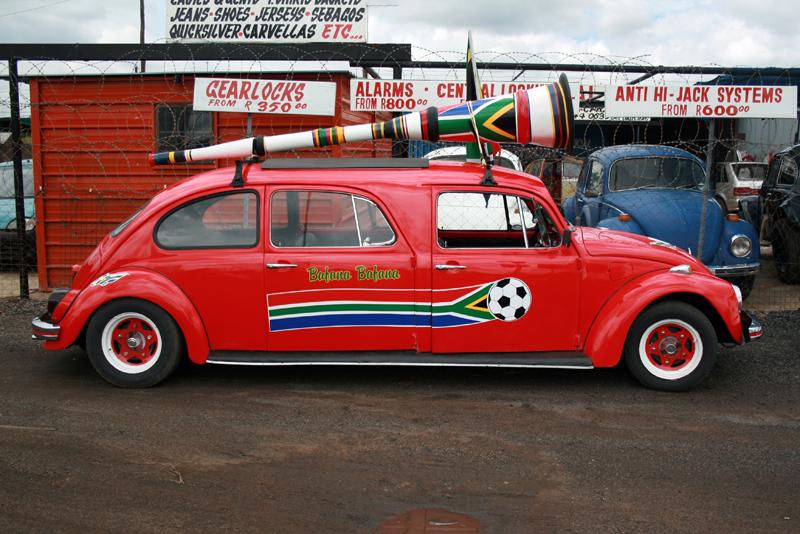 Im Auto-Korso ist man damit der Hit! Foto von: mediaclubsouthafrica.com