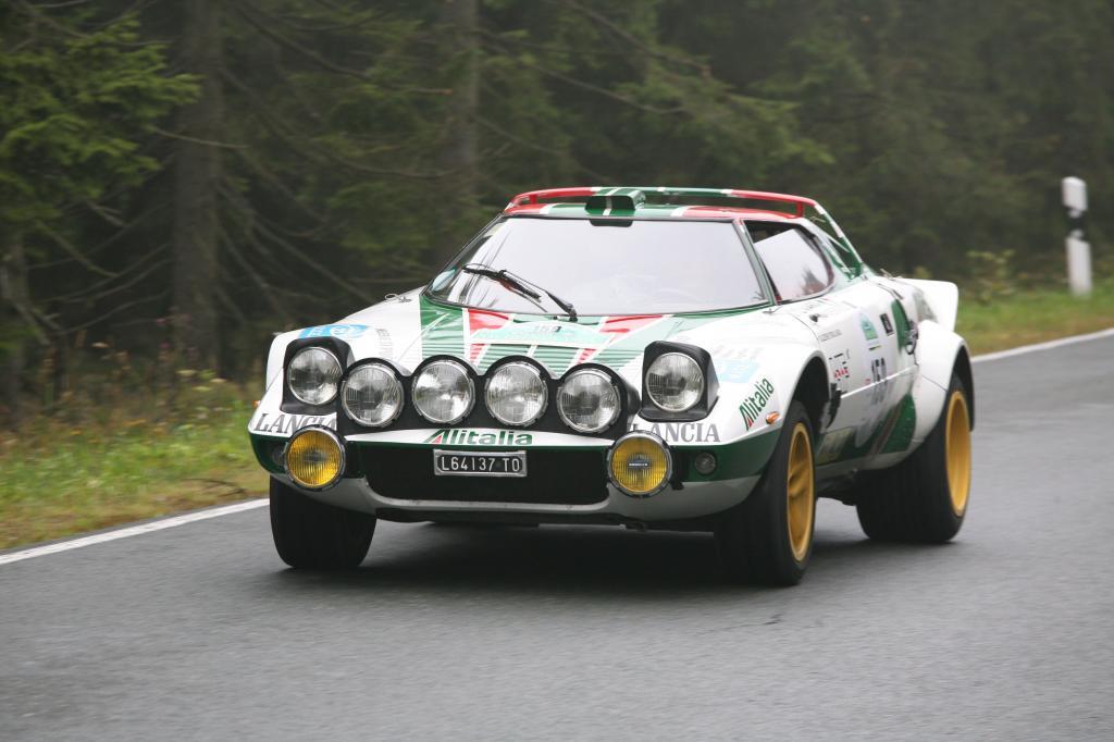 Lancia Stratos bei der Silvretta Classic 2009.