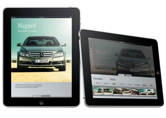 Mercedes-Benz glänzt im iPad-Format