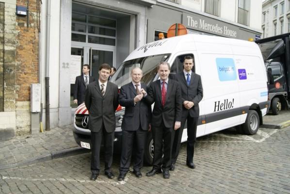 Mercedes-Benz liefert 600 Sprinter an Belgacom