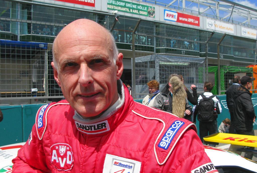 Mit dem Fuchsschwanz beim 24-Stunden-Rennen: Volker Strycek