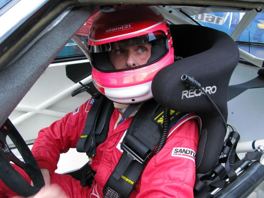 Mit dem Fuchsschwanz beim 24-Stunden-Rennen: Volker Strycek.