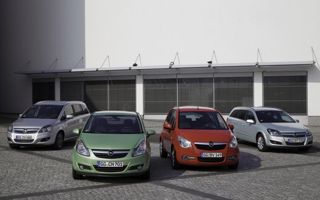Opel ecoFLEX LPG Zafira, Corsa, Agila und Astra