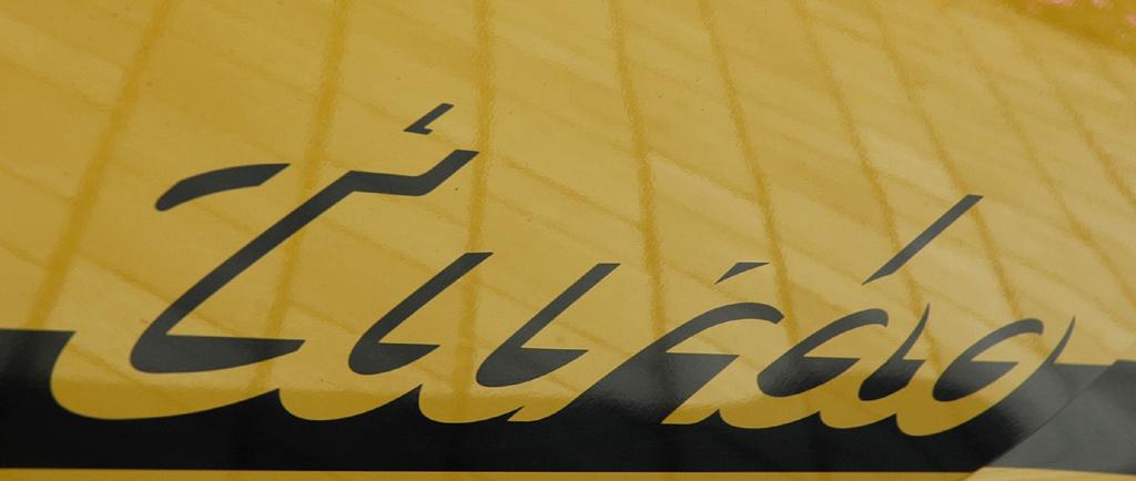 Porsche 911 Turbo: Turbo-Schriftzug an der Seite.