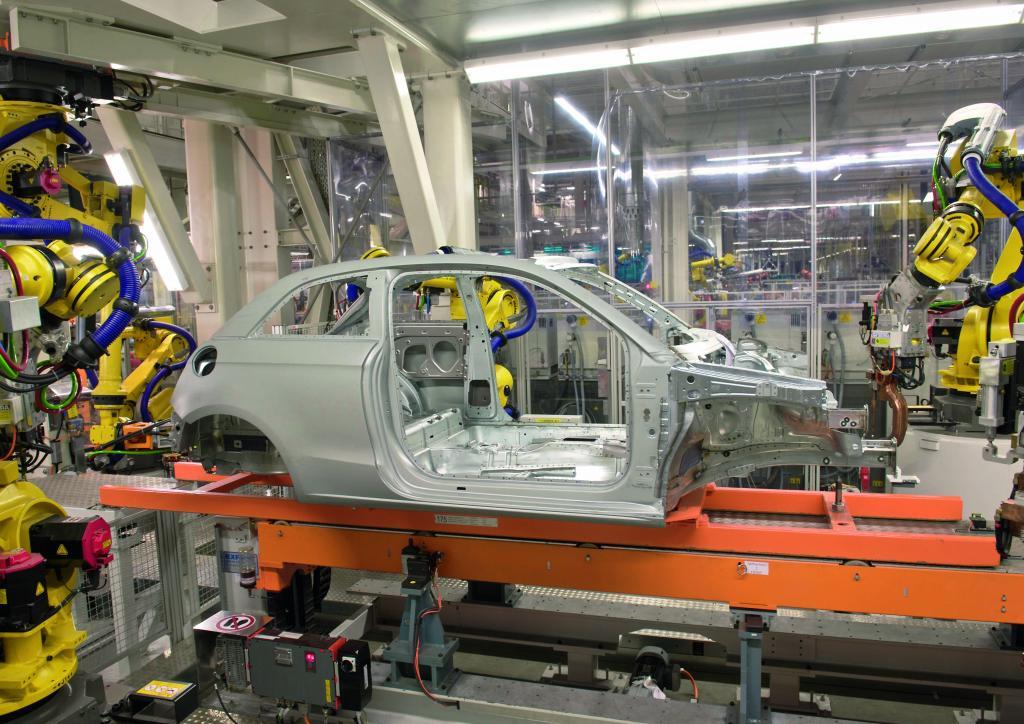 Produktion des Audi A 1.