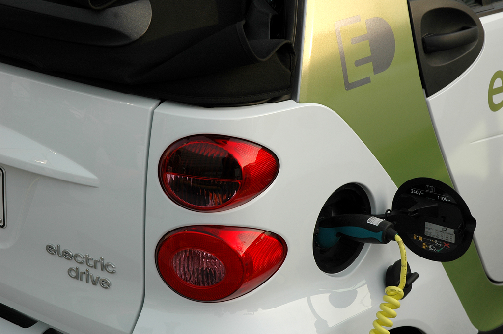 Smart Urban Stage: An der Steckdose aufladbarer Fortwo Electric Drive.