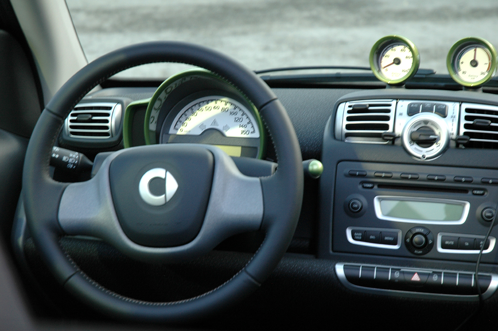 Smart Urban Stage: Blick ins Fortwo-Electric-Drive-Cockpit.