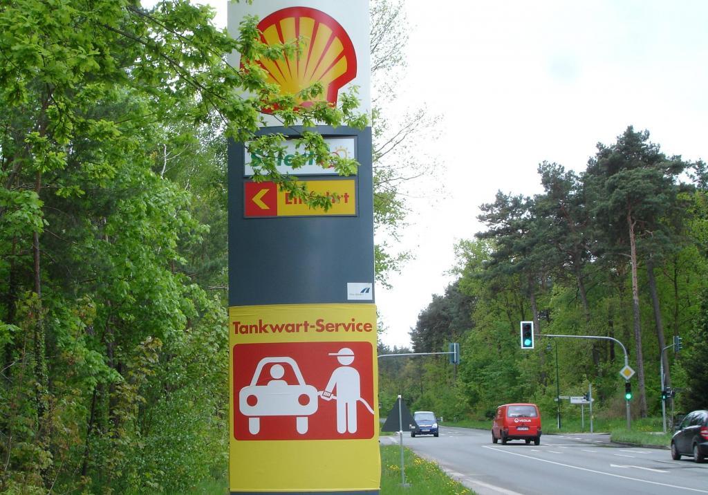 Tankwart-Service bei Shell für einen Euro