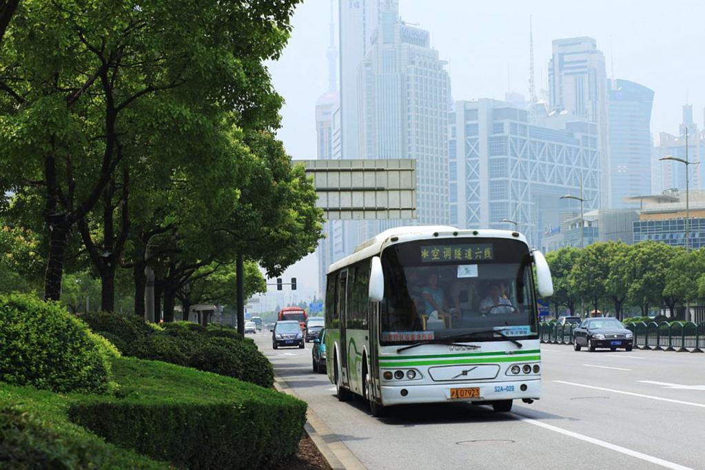 Umweltfreundliche Busse auf der Expo in Schanghai