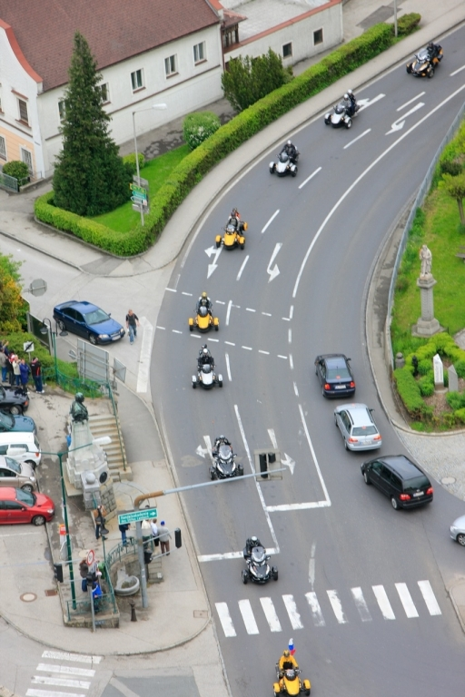 Zum ersten europäischen Treffen in Gunskirchen kamen 325 Can-Am Spyder.