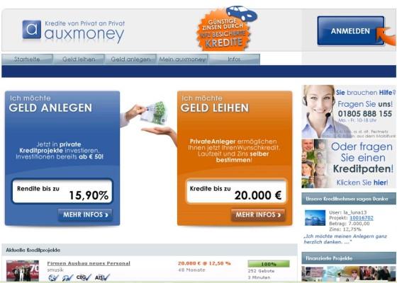 Auxmoney führt Kfz-Beleihung bei Krediten ein