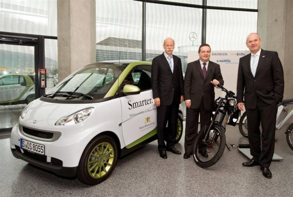 Daimler und EnBW starten ''e-mobility Baden-Württemberg''