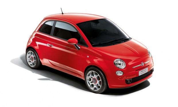 Fiat 500 als Sondermodell in Rennsportfarbe