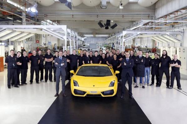 Lamborghini feiert Jubiläum: 10.000 Gallardo produziert
