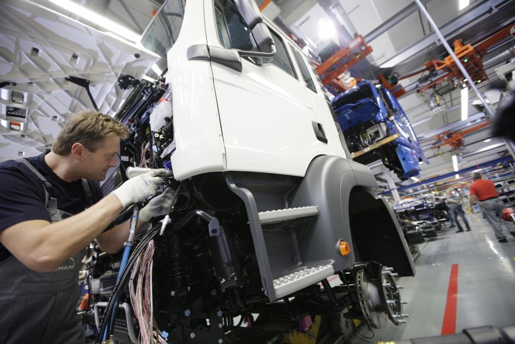 Lkw-Produktion bei MAN.