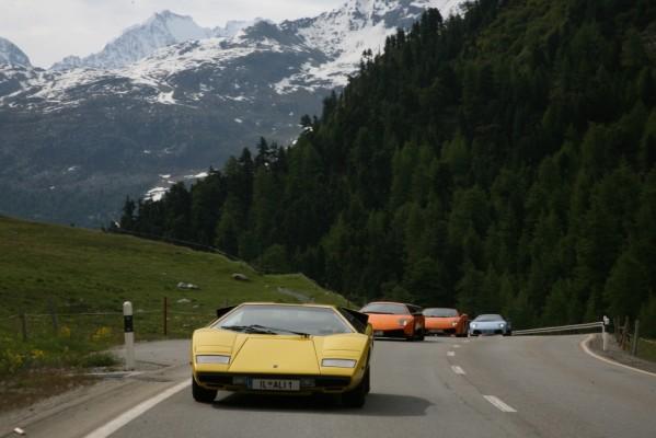 Mehr als 100 Lamborghini in St. Moritz