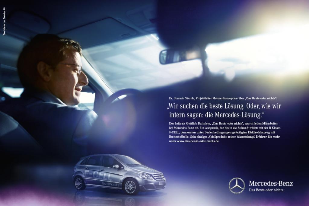 Mercedes-Benz startet Kommunikationsoffensive: Das Beste oder nichts.