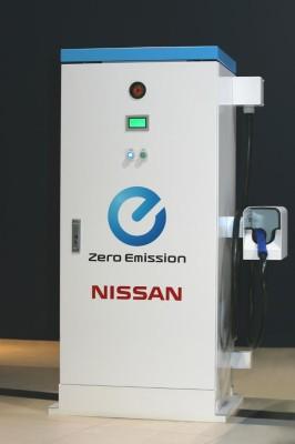 Nissan vertreibt Schnellladesysteme für Elektrofahrzeuge