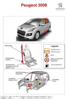 Peugeot bietet Rettungsblätter als Download an