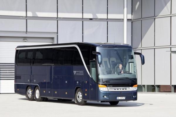 Setra mit zwei TopClass Reisebussen auf dem RDA Workshop in Köln