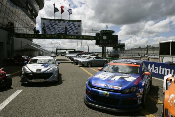 VW Scirocco GT24-CNG präsentierte sich in Le Mans