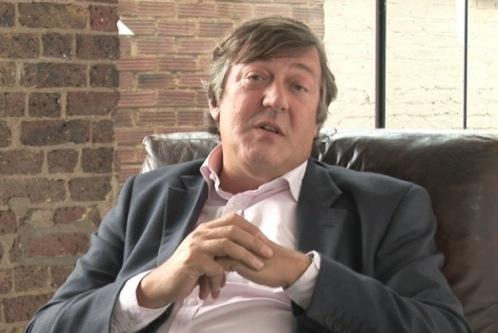 Wer wäre Ihr Lieblingsbeifahrer? Der britische Comedian Stephen Fry.